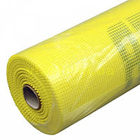 Сетка штукатурная 5х5 мм наружная щелочестойкая суперкрепкая 160 г/м.кв 50 м желтая