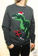 Джемпер новогодний Run&Fly р. L 52-54 серый мужской свитер пуловер
