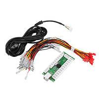 USB-контроллер игрового джойстика джойстика LED Кодер с легким кабелем