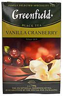 """Чай чорний Greenfield """"ВанільГрандбері """"  лист.картон 100гр."""