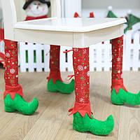 Новогодние украшения Новогодние столы для стульев для ног Носки Набор для стоп-стоп