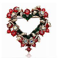 Рождественские драгоценности Сердце Праздничный Брошь Перл Подарок Рубашка Брошь Брошь