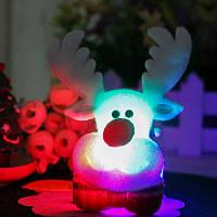 Рождество Симпатичные Светодиодный Брошь Элк Снеговик Медведь Брошь Подарок Рубашка Ошейник