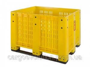Пищевой контейнер 1200х1000х800 перфорированный