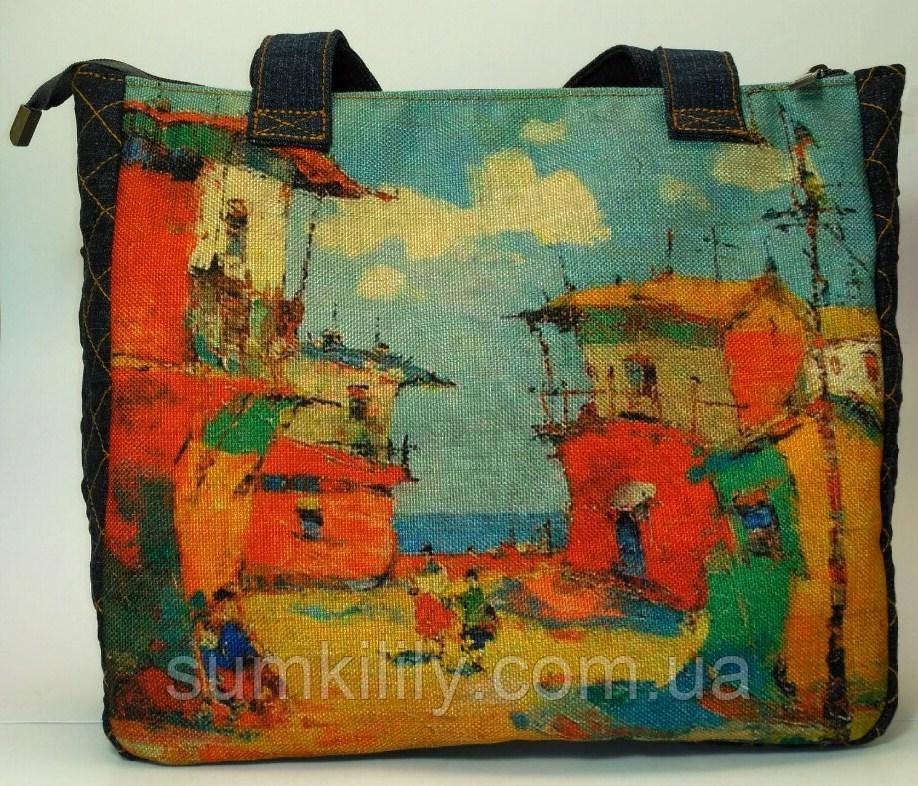 Джинсовая сумочка Рыбацкий посёлок, фото 1