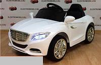 Детский электромобиль Мерседес КХ1338 NEW Премиум, резина, кожа, 4 Амортизатора, белый, дитячий електромобіль