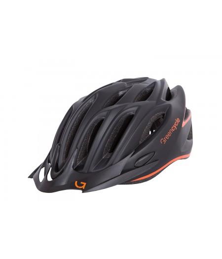 Шлем Green Cycle New Rock черно-оранжевый матовый, фото 1