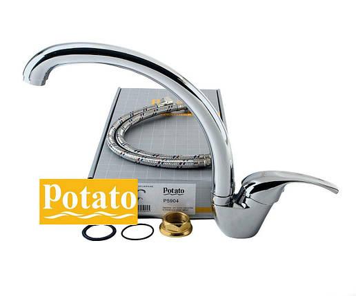 Смеситель для кухни POTATO P5904, фото 2