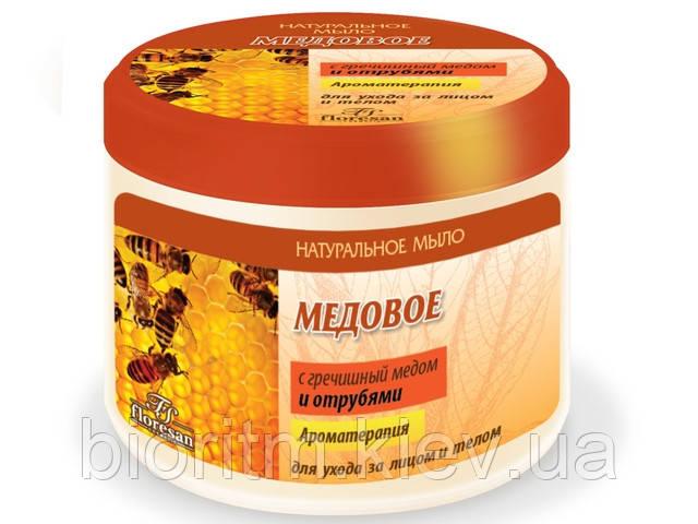 Медовое мыло натуральное для бани и душа Флоресан, 450 г