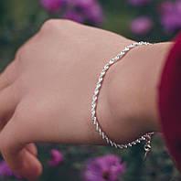 Спираль - серебряный браслет 925 пробы