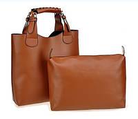 Женская сумка шоппер и органайзер Zara Shopper Ginger  коричневая