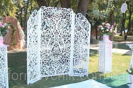 Ширма резная для выездной свадебной церемонии, фото 2