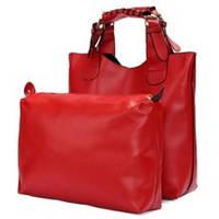 Женская сумка шоппер и органайзер Zara Shopper Ginger  красная