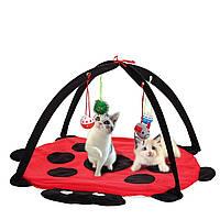 Pet Кот Play Bed Activity Палатка,играющая игрушка Упражнение Котенок Pad Mat Bells House