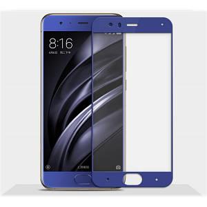 Защитное 3D стекло для Xiaomi Mi6 (Blue)