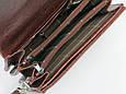 Элегантная барсетка мужская из кожзаменителя Professional 849.23 коричневая, фото 7