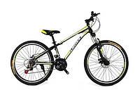 Велосипед Cross Racer 24 black/lightgreen/white