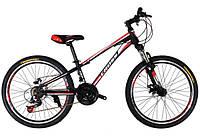 Велосипед Cross Racer 24 black/red/white