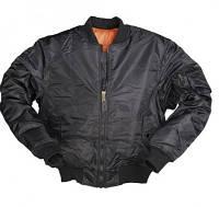 Куртка лётная MA1 MilTec FLIGHT JACKET Black 10403002