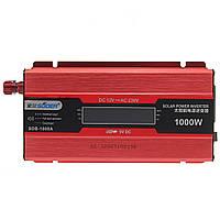 Suoer ™ Авто LED Солнечная Преобразователь инвертора мощностью от 12 В до 220 В 1000 Вт USB-порты Разъем Зажим