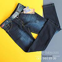 Детские джинсы для мальчика темно-синего цвета Турция р.12-13 лет