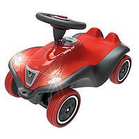 Машинка с музыкальным рулем и сенсорным включением фар BIG Next Bobby Car 56230 + защита для обуви