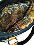 Джинсовая сумочка саквояж маки акварель2, фото 4