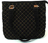 Джинсовая сумочка саквояж маки акварель2, фото 5