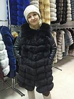 Шикарная куртка-трансформер с песцом в наличии 44 размер