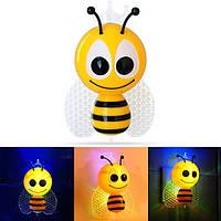 0.5W Cute Bee Butterfly Light-controlled Датчик Ночник для детей Спальня Домашний декор