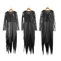 Halloween Party Главная Zombie Ghost Bride Женское Платье С черными головными уборами Рюкзаки