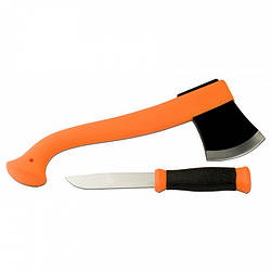 Набор Morakniv Outdoor Kit Orange. Нож Outdoor 2000+Топор Camping axe. Нержавеющая сталь. Оранж (12096)