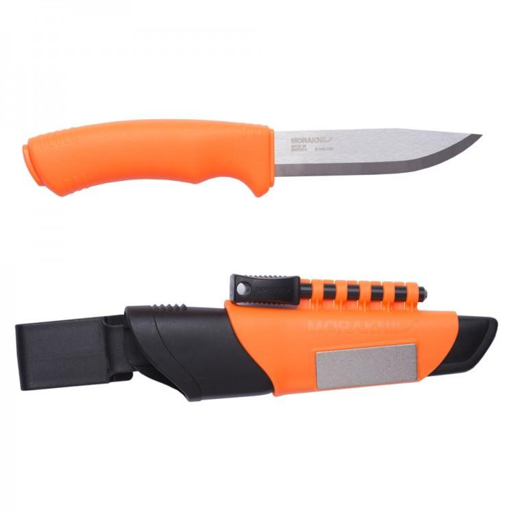 Нож Morakniv Bushcraft Survival Orange/black. Нержавеющая сталь. Огниво. Оранжевый цвет. (12051)
