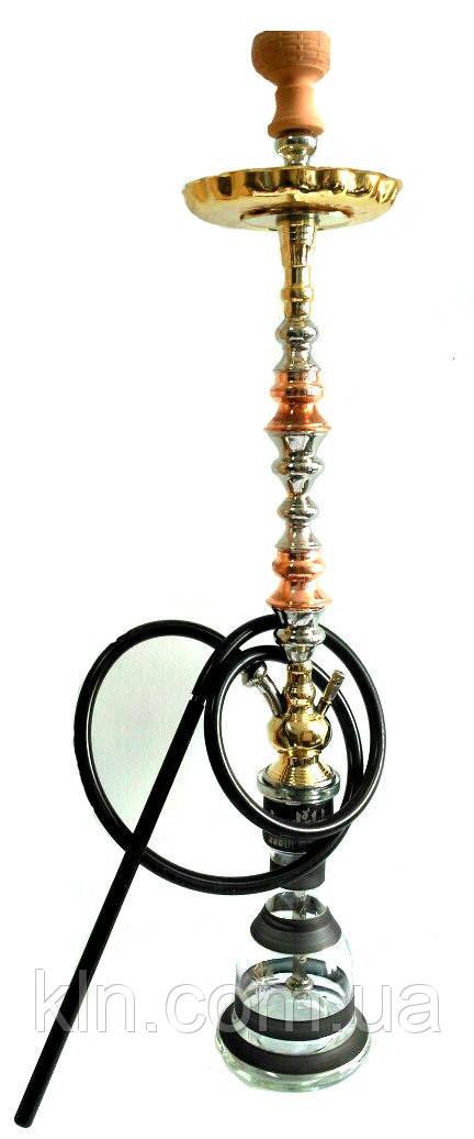 Кальян Khalil Mamoon 100 см Trimetal (Три металла) + Шланг новый высокий