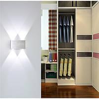 Крытый 4/6 / 8W Белый свет LED Стена Лампа Алюминиевый цветной светильник для спальни AC85-265V