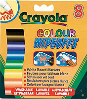 Игра Crayola 8 стираемых фломастеров для письма на доске (8223)