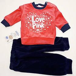 0617 Костюм велюр Enzo284 'Love Pink'