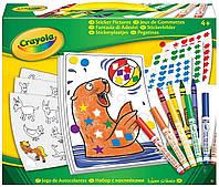 Игра Crayola Набор для творчества с наклейками и фломастерами (04-6801)