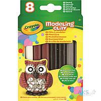 Игра Crayola Незасыхающий пластилин Природные цвета 8шт (57-0314)