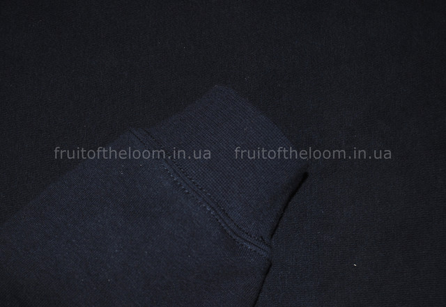 Глубоко тёмно-синяя мужская премиум толстовка с капюшоном на замке