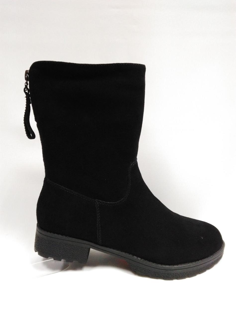 Зимние ботиночки на толстой подошве.