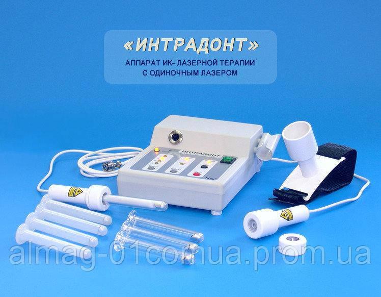 ИНТРАДОНТ урогин (1 канал), два лазерных модуля и дополнительные насадки