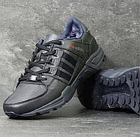 Зимние кроссовки мужские Adidas 3794 синие кожа