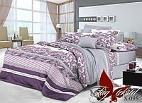 Комплект постельного белья сатин двуспальный TM Tag 095