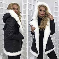 Куртка женская кожаная на меху 23613
