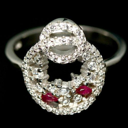 Рубин, серебро 925, кольцо, 1013КЦР