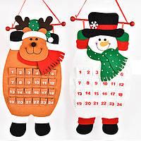 Рождественский календарь обратного отсчета Снеговик Олень Висячий Адвент Календарь Декорации Home Decor