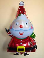 """Фольгированный шар """"Дед мороз"""" 80×45 см"""