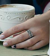 Сеточка - серебряное кольцо 925 пробы