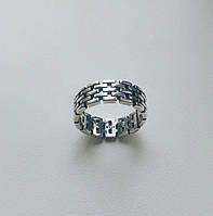 Кирпичики - серебряное кольцо 925 пробы